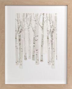 Birch Woods in Winter- pretty in hall, bedroom or bathroom