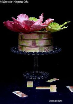- WATERCOLOR MAGNOLIA CAKE