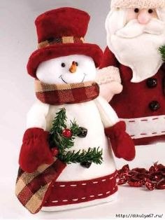 Snowman Crafts, Ornament Crafts, Christmas Crafts, Quilted Christmas Ornaments, Christmas Snowman, All Things Christmas, Christmas Time, Christmas Sewing Projects, Homemade Christmas Decorations