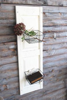 Hometalk :: DIY Shutter Door With Basket Storage