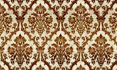 brown damask pattern