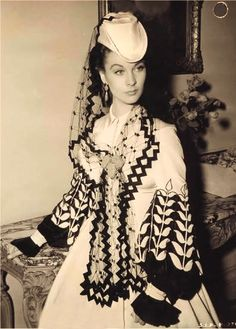 Vivien Leigh in clothes from Gone with the Wind