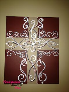 I painted this cross and gave a step by step how to on my blog.