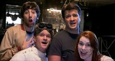 Dr. Horrible's Sing-Along Blog: Big Bang Theory, How I Met Your Mother, Castle, and Eureka all in one picture.  EPIC.