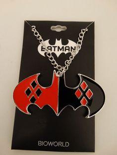 Harley Quinn Batman Logo Dc Comics Necklace Nwt  #HarleyQuinnBatman #Necklace