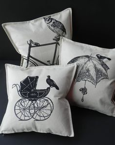 Love the printing idea onto cushions & the amount of detail on them!