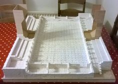 Blood Bowl stadium - made with Hirst Arts plaster molds.