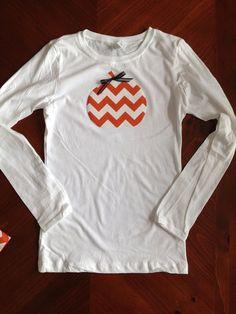 Chevron pumpkin shirt on Etsy, $15.00