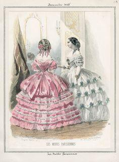 Les Modes Parisiennes December 1855 LAPL