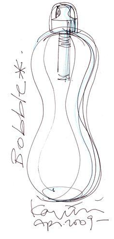 Karim Rashid 'Bobble' bottle - filters as you drink.