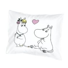 We have a great selection of bedroom items such as Moomin lamps and Moomin duvet covers in both black and white and color. Browse all Moomin bedroom products below. Moomin Valley, Tove Jansson, Thing 1, Heart Pillow, Joko, Linen Bedding, Bed Linens, Best Memories, Pillow Covers