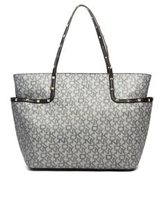 Pocket idea  DKNY Active Logo Shopper Bag with Studding