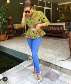 Weekend Special With A Twist: Show-stopping Ankara Styles - Wedding Digest Naija African Tops, African Dresses For Women, African Print Dresses, African Attire, African Wear, African Women, African Prints, African Style, African Inspired Fashion