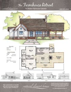 84 Farmhouse Retreat Artistic Designs For Living – Farmhouse Room Cabin House Plans, Dream House Plans, Small House Plans, House Floor Plans, Cottage House Plans, Cottage Homes, Cabin Homes, Log Homes, Style At Home