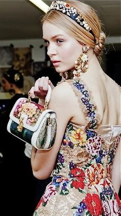 Josephine Skriver at Dolce & Gabbana