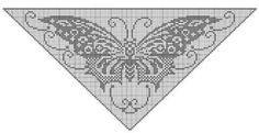 Schmetterling Filet Tuch