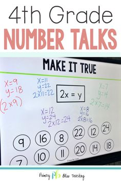 Your fourth grade students will absolutely love engaging in these math talk activities. They are common core aligned, no prep, and oh so fun for students. Grab your set today and sit back as your students become problem solving ninjas. First Grade Lessons, First Grade Activities, Teaching First Grade, First Grade Math, Math Lessons, Math Fact Practice, Math Talk, Daily 5 Math, Math Fact Fluency
