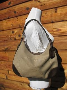 Prada Corda Moro Canvas And Leather Jacquard Logo Hobo Bag Handbag ...