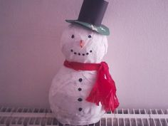 Small snowman pinata ...great for a table present or a small gift
