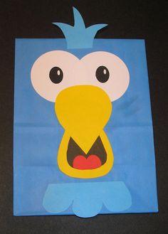 Macaw Treat Sacks - Tropical LUAU Zoo Rio Beach Theme Birthday Party Goody Bags by jettabees on Etsy. $15.00, via Etsy.