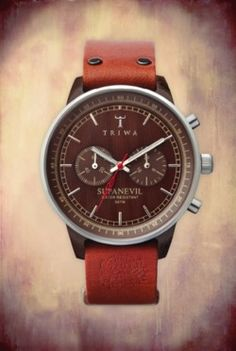 Leather and wood watch.  #watch #camping