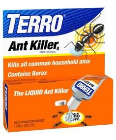 TERRO 1 oz Liquid Ant Killer ll For control of sweet eating ants. Ants carry Terro back to the nest where it destroys the whole colony. Borax For Ants, Terro Ant Killer, Ant Problem, Ants In House, Black Ants, Household Pests, Household Tips, Insect Pest, Vestidos