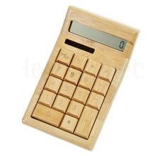 Bamboe houten calculator