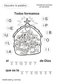 El Rincón de las Melli: ACTIVIDADES chiquitos (descubre la palabra) Kids Church Lessons, Bible Activities, Church Crafts, Object Lessons, Sunday School Crafts, Bible Quotes, Free Printables, Learning, Christianity