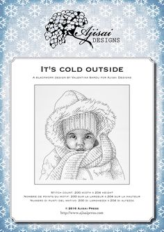 Blackwork Design: It's cold outside | Ajisai Press