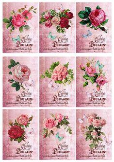 Decoupage Vintage, Vintage Crafts, Vintage Paper, Card Making Supplies, Craft Supplies, French Typography, Free Digital Scrapbooking, Stencil Diy, Vintage Labels