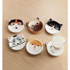 #Cat #Coasters Set at #Ginny's $13.95 via Catalog Spree!