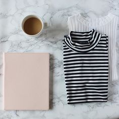 Morning essentials au deuxe || what's your favorite prong: stripes or polka dots?