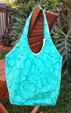 Shoulder Bag - Teal Floral