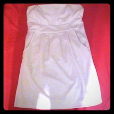 White tube dress with pockets White only wore once Dresses