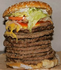The Dodeca-Whopper: 12 Patties of Burger King Greatness Stacked Between Two Buns Because We Can