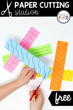 Paper Cutting Station - Playdough To Plato