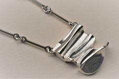 "#BuyItNow > Björn Weckström for Lapponia Jewelry (FI), modernist sculptural sterling silver ""Cumulus"" pendant, 1985. #lapponia #bjornweckstrom #finland | finlandjewelry.com"
