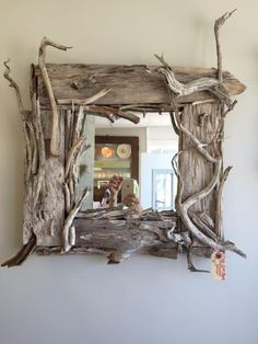 Driftwood Mirror by PrimsofCapeCod on Etsy