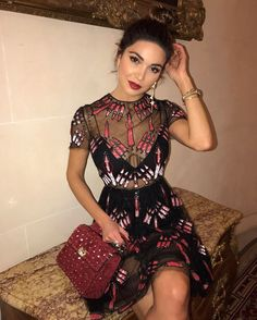"109.4k Likes, 670 Comments - Negin Mirsalehi (@negin_mirsalehi) on Instagram: ""Dinner with @maisonvalentino. @plaza_athenee #dcmoments"""