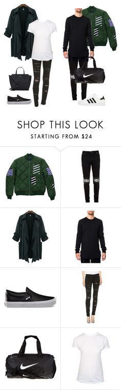 """Dropping Bae Off at Airport"" by supremeregine ❤ liked on Polyvore featuring mode, Fred Perry, Hood by Air, Vans, Blank Denim, adidas, NIKE, T By Alexander Wang et Kate Spade"