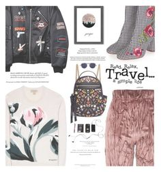 """Prague Travel Outfits"" by zayngirl1dlove ❤ liked on Polyvore featuring Burberry, Topshop, Hyein Seo, Americanflat, xO Design, Alexander McQueen and Mykita"
