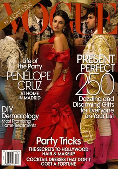 Vogue December 2007...Penelope Cruz in Oscar de la Renta