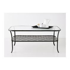IKEA - KLINGSBO, Coffee table, , Separate shelf for magazines, etc. helps you keep your things organized and the table top clear.