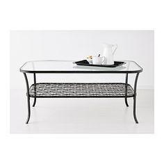 "KLINGSBO Coffee table, black, clear glass, 45 5/8x30 3/4"" - $79.99 ♧ IKEA"