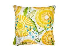 "Cori+Dantini+Sun+Burst+Flowers+16""+x+16""+polyester+pillow,+$45,+denydesigns.com"