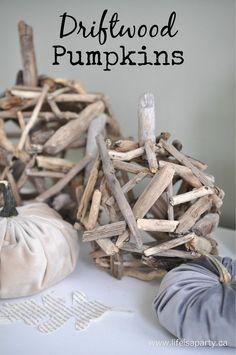 Driftwood Pumpkins: Easy DIY driftwood pumpkin tutorial