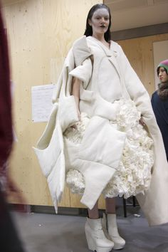 Backstage at the 2012 White Show | Fashion, Inside CSM, Projects | 1 Granary1 Granary | By the Students of Central Saint Martins