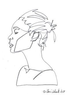 """Gaze 513″, continuous line drawing by Boris Schmitz"