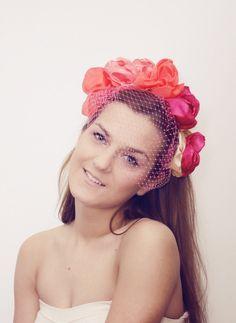 Pink & Orange floral crown