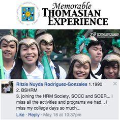 Memorable Thomasian Experiences